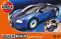 J6008 Bugatti Veyron (Черный\Синий) QUICKBUILD, Airfix
