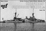 Корабль KB70197PE German Kurfuerst Friedrich Wilhelm Battleship, 1894