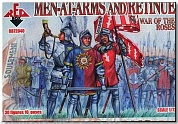 RB72040 Фигуры War of the Roses 1. Men-at-Arms and Retinue 1/72