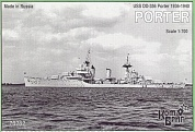 Корабль KB70282PE USS Porter Destroyer 1936-40 fit