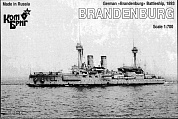 Корабль KB70196PE German Brandenburg Battleship, 1893 (Late Fit)
