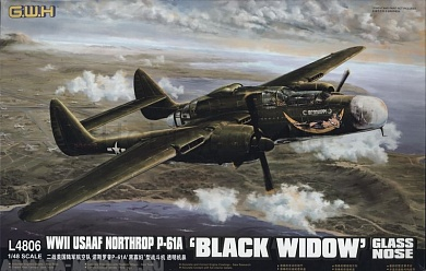 "L4806 Самолет P-61A ""Black Widow"" (glass nose) 1/48 Great Wall"