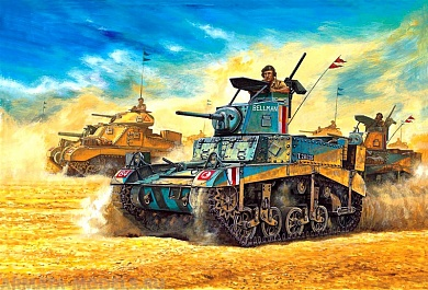 13270 Танк  M3 Stuart Honey Academy