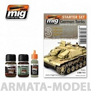 AMIG7412 Ammo Mig Набор для создания реалистичных эффектов GERMAN TANKS SET