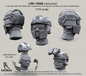LRE16006 Crye Airframe helmet with cover and choops with head, 1/16 scale