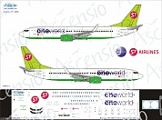 738-011 Декаль для самолета Boeing 737-800 One World S7 Airlines 1/144
