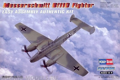 80292 Самолет Messerschmitt Bf110 Fighter Hobby Boss