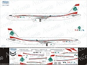 321-012 Декаль для самолета Airbus A321 MEA - Middle East Airlines 1/144