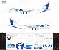320-035 Декаль для самолета Airbus A320 Fly One 1/144