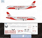 320-034 Декаль для самолета Airbus A320 Red Wings 1/144