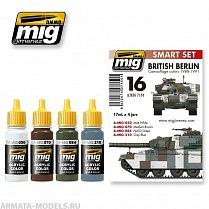 AMIG7150 Ammo Mig BRITISH BERLIN CAMOUFLAGE COLORS 1988-1991