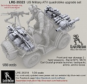 LRE35323 US Military ATV quadrobike upgrade set - Front and rear stowage 2 - hand weapons - Barret M72, Mk18, Carl Gustaf grenade launcher, backpacks, ammo, ammo boxes