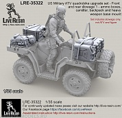 LRE35322 US Military ATV quadrobike upgrade set - Front and rear stowage 1 - ammo boxes, canister, backpack and heavy weapon base mount