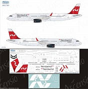 321-014 Декаль для самолета Airbus A321 Nordwind Airlines (New colors 2017) 1/144