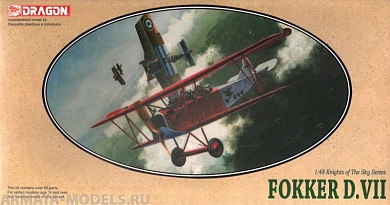 5905Д САМОЛЕТ FOKKER D. VII Dragon, 1/48