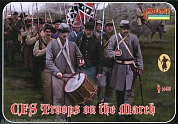72147ST Фигуры Confederate Troops on the March 1/72