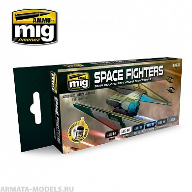 AMIG7131 Ammo Mig Набор акриловых красок  SPACE FIGHTERS SCI-FI COLORS