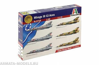 2718ИТ Самолет MIRAGE III CJ ACES Italeri, 1/48