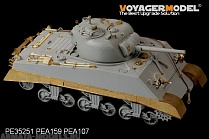 PEA159 Набор фототравления для 1/35 WWII USMC M4A2 Mid Tank Late Version Side Skirts (For DRAGON Kit)