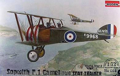 Rod054 Самолёт SOPWITH F.1 CAMEL TWO SEAT TRAINER Roden