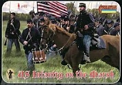 72149ST Фигуры American Civil War US Infantry on the March 1/72