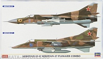 02108 Набор MiG-23 and MiG-27 FLOGGER COMBO (Two kits in the box)