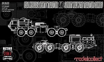 MA72009 USA M983A2 HEMTT Tractor and Soviet MAZ 7410 tractor COMBO 1/72