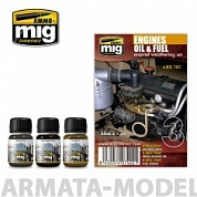 AMIG7402 Ammo Mig Набор для создания реалистичных эффектов ENGINES SET