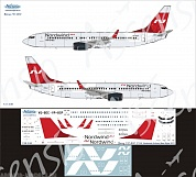 738-036 Декаль для самолета Boeing 737-800 Nordwind Airlines new 1/144