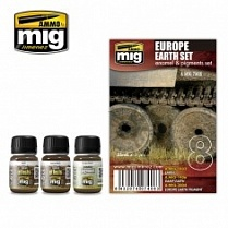 AMIG7408 Ammo Mig Набор для создания реалистичных эффектов EUROPE EARTH SET