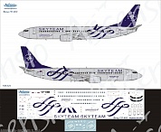 738-024 Декаль для самолета Boeing 737-800 SkyTeam (Аэрофлот Российские Авиалинии)  1/144