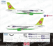 319-003 Декаль для самолета Airbus A319 One World S7 Airlines 1/144