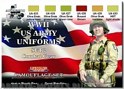 CS18 Набор WWII US ARMY UNIFORMS COLOURS SET 2