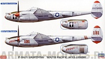 02068 Самолет P-38J/L LIGHTNING SOUTH PACIFIC ACES COMBO (Two kits in the box)