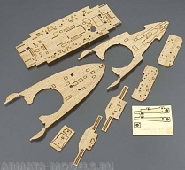 72148 Фототравление: WOODEN DECK FOR Z21(40021-4)  IJN BATTLESHIP MIKASA