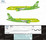 320-032 Декаль для самолета Airbus A320 NEO S7 Airlines new colors 2017 1/144