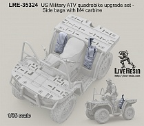 LRE35324 US Military ATV quadrobike upgrade set - Side bags with M4 carbine