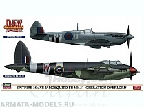 "02096 Набор SPITFIRE Mk.VII / MOSQUITO FB Mk.VI ""OPERATION OVERLORD"""