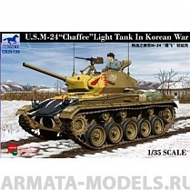 "СВ35139 Танк U/S/M-24 Light tank ""Chaffee"" in Korean war (Bronco Models) 1/35"