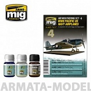 AMIG7417 Ammo Mig Набор для создания реалистичных эффектов WW II PACIFIC US NAVY AIRPLANES