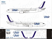 738-065 Декаль для самолета Boeing 737-800 UtAir (new colors 2017) 1/144