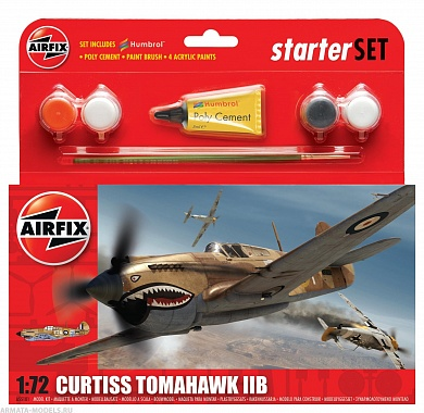 55101 А  Самолет Curtiss Tomahawk IIB Airfix, 1/72