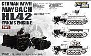 L3522 Сборная модель WWII German Maybach HL42 TRKMS Engine for sWS