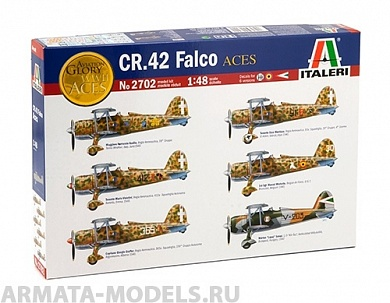2702ИТ Самолет CR.42 Falco Italeri, 1/48