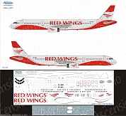 321-021 Декаль для самолета Airbus A321 Red Wings 1/144
