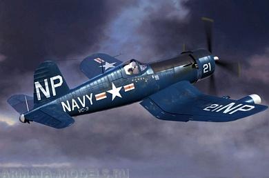 80390 	Самолет F4U-5N Corsair early version Hobby Boss