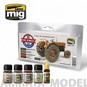 AMIG7145 Ammo Mig Набор для создания реалистичных эффектов CIVIL VEHICLES WEATHERING SET
