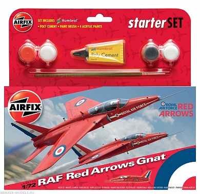 55105 А  Самолет  RAF Red Arrows Gnat Airfix