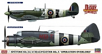 "02087 (02087-0) SPITFIRE Mk.IXc/ BEAUFIGHTER Mk.X ""OPERATION OVERLORD"" (Two kits)"