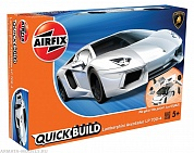 J6019 Lamborghini Aventador (Белый) QUICKBUILD, Airfix